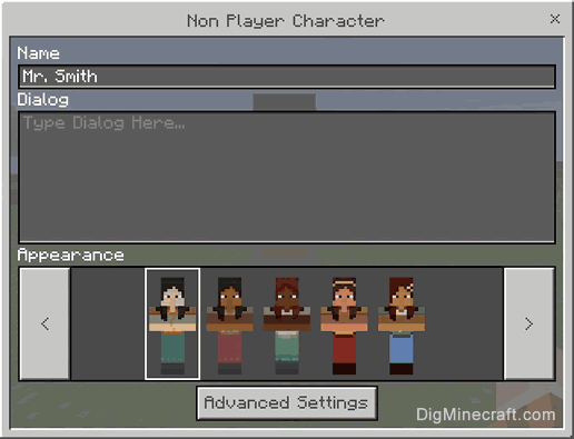 How to Change the Dialog for the NPC in Minecraft