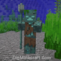 Drowned in Minecraft
