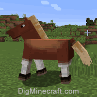 how to build a horse saddle in minecraft pe