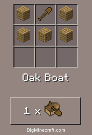 boat crafting recipe how to make an oak boat in minecraft 1149