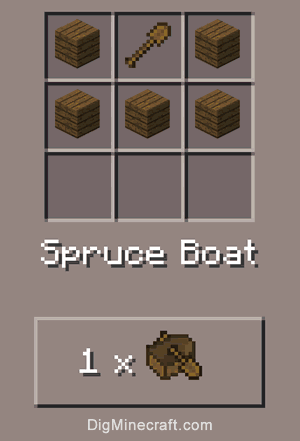 boat crafting recipe how to make a spruce boat in minecraft 1149